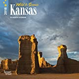 Kansas, Wild & Scenic 2018 7 x 7 Inch Monthly Mini Wall Calendar, USA United States of America Midwest State Nature (Multilingual Edition)