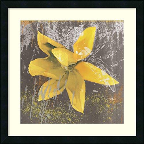 - Framed Art Print, 'Tulip Fresco (yellow)' by Erin Clark: Outer Size 22 x 22