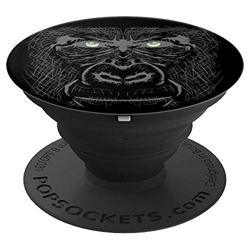 - Grumpy Gorilla Face - PopSockets Grip and Stand for Phones and Tablets