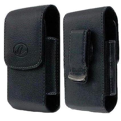 Vertical Leather Belt Clip Swivel Case for Consumer Cellular Doro Phone  Easy 618