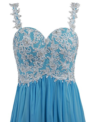 Pale Lace Women Blue Dresses ANTS Prom s Evening Gown Backless Straps Long RvSRWIUdqx