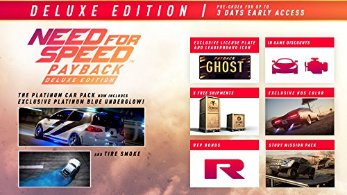 Amazon Com Need For Speed Payback Deluxe Edition Playstation 4