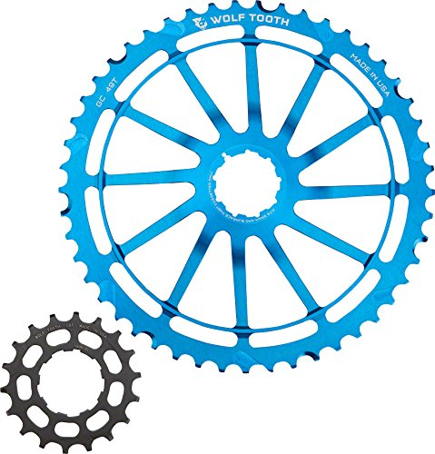 Wolf Tooth Components Giant Cog for SRAM NX Blue, 49t (Aluminum 49 Teeth)