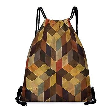 Amazon.com | Yoga backpack Modern Decor Geometric Shaped ...