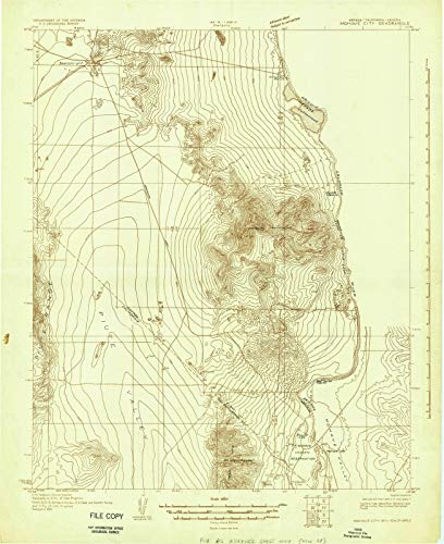 Nevada Maps - 1926 Mohave City, NV USGS Historical Topographic Map - Cartography Wall Art - 36in x 44in (Map Nevada Laughlin)