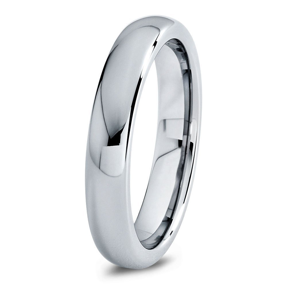 Tungsten Wedding Band Ring 4mm 8mm 7mm 4mm 2mm for Men Women Comfort Fit Grey Domed Polished FREE Custom Laser Engraving Lifetime Guarantee