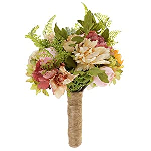 Jili Online Elegant Bridesmaid Bouquet Wedding Hand Tied Artificial Flower for Hotel Home Office Decoration 3
