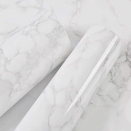 40 Cm X 300 Cm Marble Contact Paper White Grey Granite Self