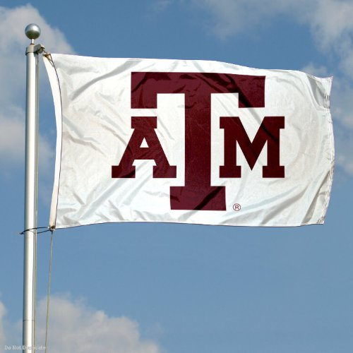 Texas A/&M Aggies White Flag College Flags and Banners Co