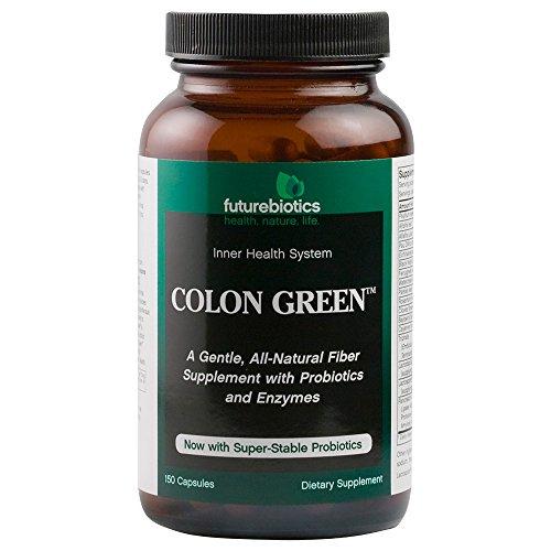 Futurebiotics Colon Green Fiber Supplement, 150 Vegetarian (Fiber 150 Capsules)