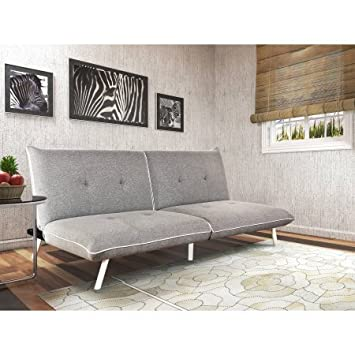 Amazon Extra Large Futon With Contrast Piping Greywhite