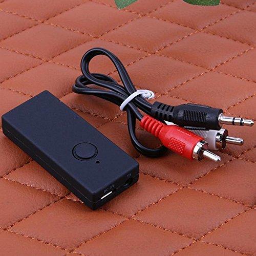 SODIAL Trasmettitore wireless Bluetooth Stereo Audio Music Trasmissione senza perdite per TV Auricolare TX8 Adattatore Bluetooth