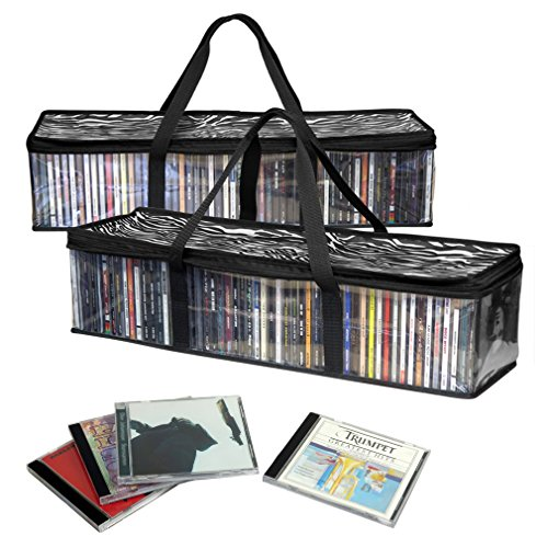 Evelots 5399 CD Storage Bags, 2 Piece
