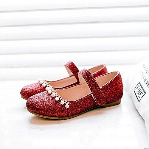 con Color Sandalias de Rojo Sandalia Oro corte Tamaño planas dedos ZJM 37 verano Bling de cerrados lindos Cómodo de diseño Precioso bajo zapatos UdA7cqwF
