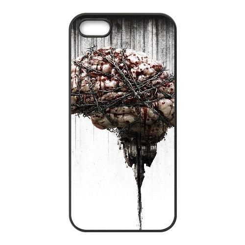 F4N20 le mal en E8I3UW coque iPhone 5 5s cellulaire cas de téléphone couvercle coque noire SD7RCX0PT