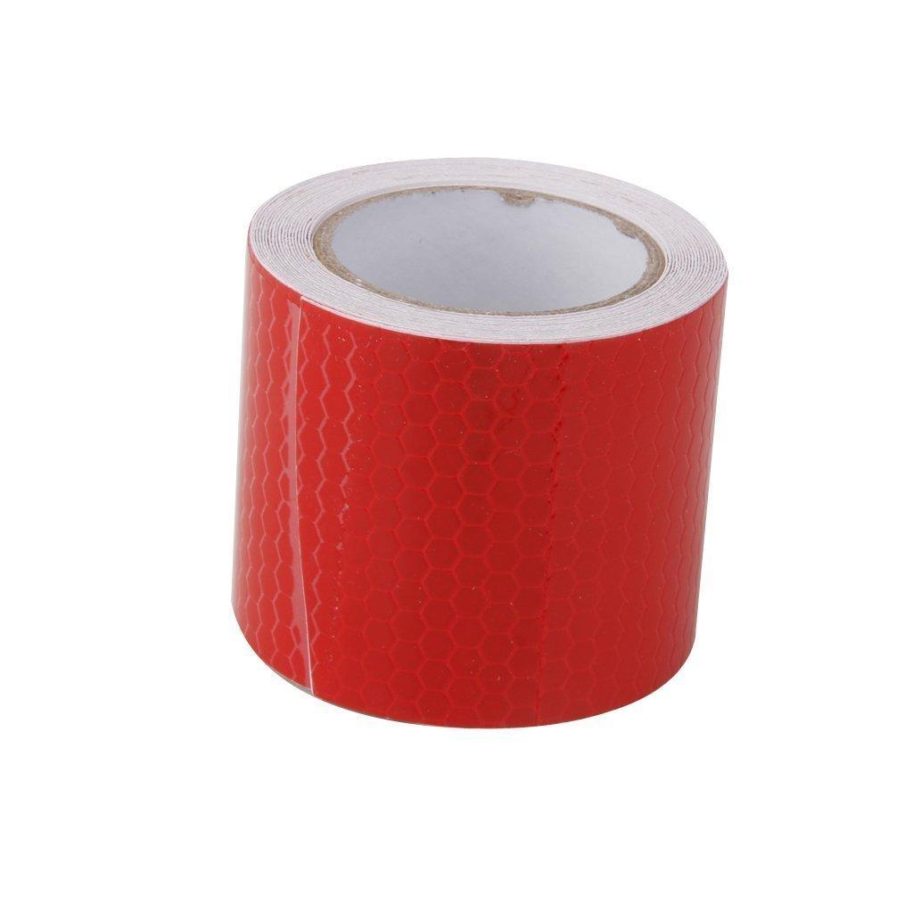 Romote (Rosso Nastro Sicurezza ad Alta intensità Nastro Riflettente Autoadesivo della Pellicola Vinile Autoadesivo 5cm * 3m