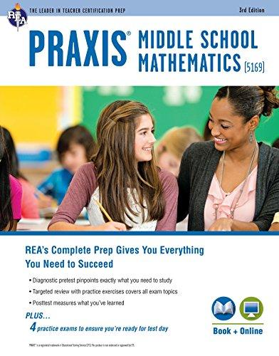 Praxis Ii Middle School Mathematics  5169  Book   Online  Praxis Teacher Certification Test Prep