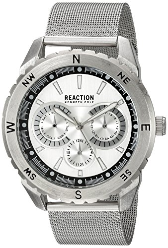 Kenneth Cole REACTION Men's 'Sport' Quartz Metal and Stainless Steel Casual Watch, Color:Silver-Toned (Model: 10030937)