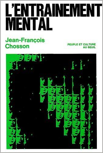 L ENTRAINEMENT MENTAL PDF