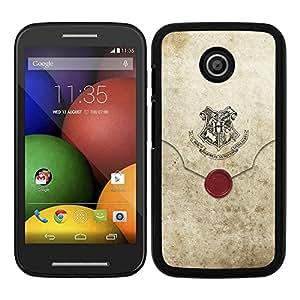 Funda carcasa para Motorola E diseño sobre antiguo borde negro