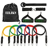 EILIKS 11 PCS Resistance Bands Set, 100% Premium Exercise Bands Workout Bands with Door Anchor, Handles, Ankle Straps for Resistance Training, Physical Therapy, Home Grm Workouts Review