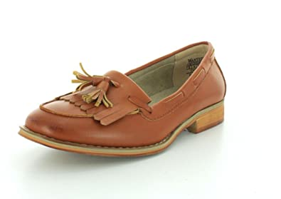 da119d0f72d Wanted Shoes Womens Charlie Classic Loafer With Kiltie Fringe Detail