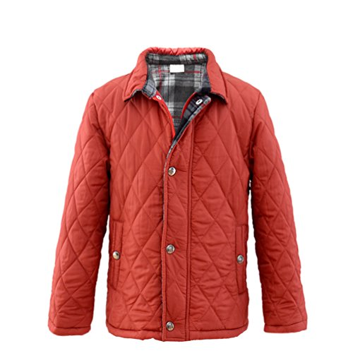 M2C Boys Winter Light Diamond Quilted Fleece Lined Barn Padded Jacket 6/7 Red Flannel Boys Jacket