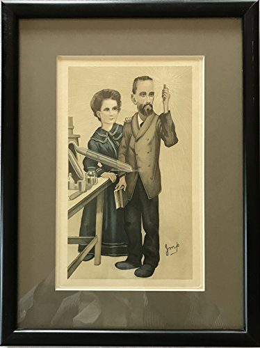 Vanity Fair Print Marie and Pierre Curie Radium by Imp Matted and Framed