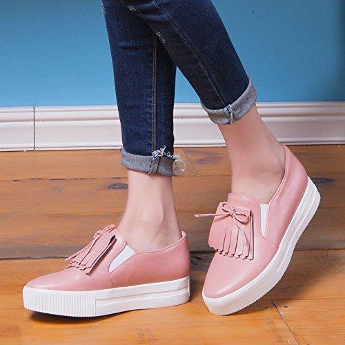 Sjarm Fot Kvinners Plattform Uformell Komfort Dusk Loafers Sko Rosa