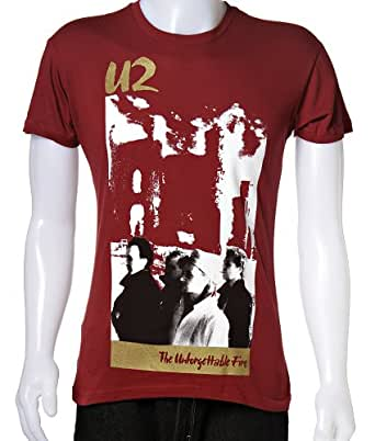U2 - Camiseta - Hombre - U2 - The Unforgettable Fire Tour Shirt, XX-Large