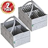 Crib with Changing Tray Baby Diaper Caddy Organizer Set of 2 – Nursery Basket with Handles – Baby Diaper Storage and Changing Table Organizer 2-Pack Perfect Baby Shower Gift Basket for Newborn Girls and Boys by Cartik-2pack