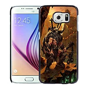 Fashion DIY Custom Designed Samsung Galaxy S6 Phone Case For Diablo III Barbarian Phone Case Cover