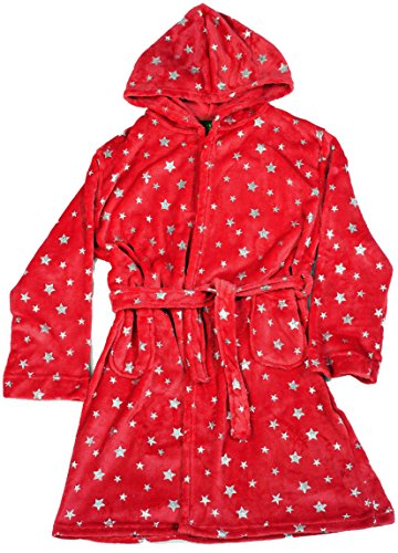 (Just Love Velour Printed Robes 75605-NEW-RED-10-12)