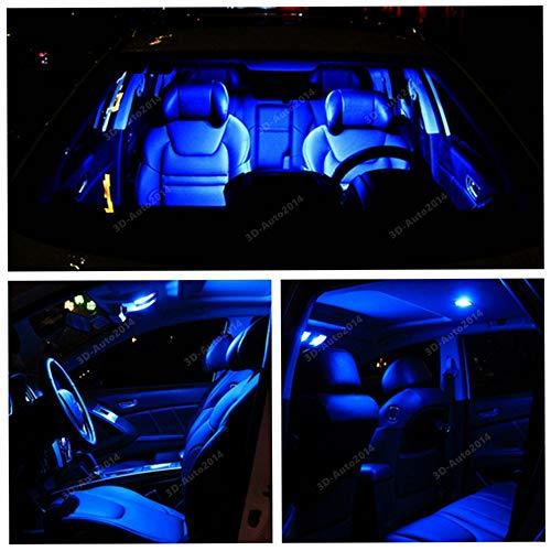 Sky Auto INC LED Premium Blue Light Interior Package Kit for Lexus RC-F RC-350 F 2015-2016 (10 pcs)