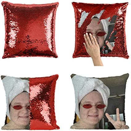 Lewis Capaldi Towel Head Peace Sign_MA0828 Sequins 16×16 Pillow Cover with 18×18 inch Insert Girly Stuff Boys Xmas Present Cover Insert