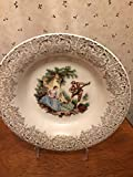 American Limoges Triumph China D'Or Serenade 22K Gold Vintage Soup Bowl Made in USA
