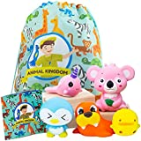 Top 10 STEM Toys Educational Animal Squishy Pack - 5 PCS Slow Rising Jumbo Set - Kawaii Sensory Learning Toy Perfect for Stress and Anxiety Relief