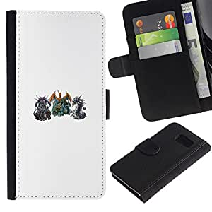 NEECELL GIFT forCITY // Billetera de cuero Caso Cubierta de protección Carcasa / Leather Wallet Case for Sony Xperia Z3 Compact // P0kemon Encuentro