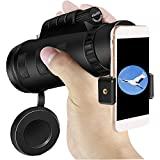 Monocular Telescope Aopet 10X High Power BAK4 Prism Scope with Phone Mount & Tripod Shockproof Waterproof Fogproof HD View Spotting Scope with Low Night Vision for Wildlife Travel Camping Hiking