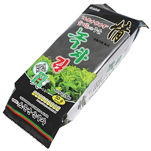 Korea Seasoned Traditional Type Green Tea Laver 50g by Sambujakim