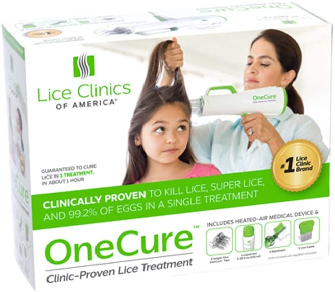 OneCure Lice Treatment Kit – Guaranteed to Kill Lice & EGGS – Clinically-Proven, Safe, Non-Toxic Lice Cure