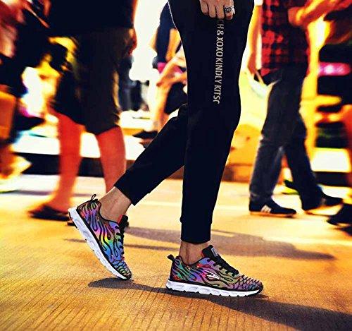 Hommes Chaussures De Course 2017 Automne Décoloration Lumineuse Mode Amorti Cushioning Baskets Légères Respirant Athletic Shoes Red hL5fyPUo