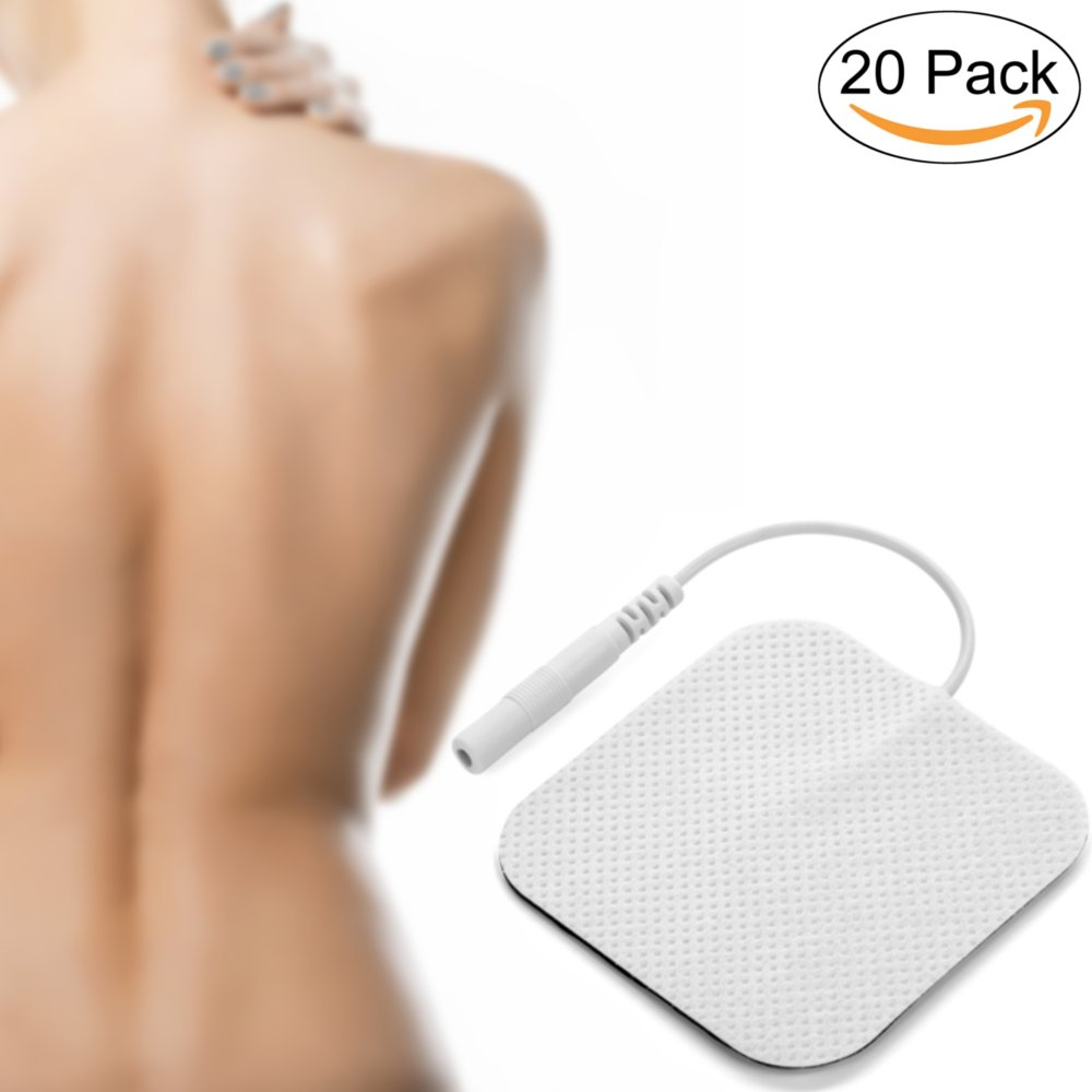 alegriaCare 20 TENS Electrode Pads - High quality TENS Unit Electrodes & materials guaranteed - Spare you a doctor's appointment or a trip to the dermatologist - No rashes, blisters, itching or shocks