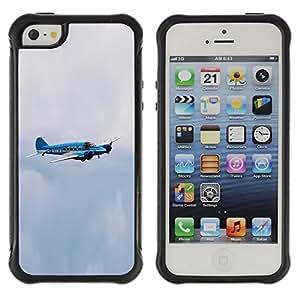Pulsar Defender Series Tpu silicona Carcasa Funda Case para Apple iPhone 5 / iPhone 5S , avro enson avro anson
