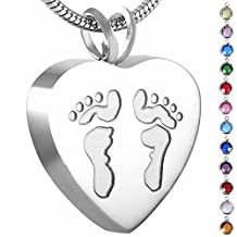 Memorial Jewelry Birthstone Personalized Cremation Urn Jewelry Necklace with Funnel Filler Kit Ashes Keepsake Memorial