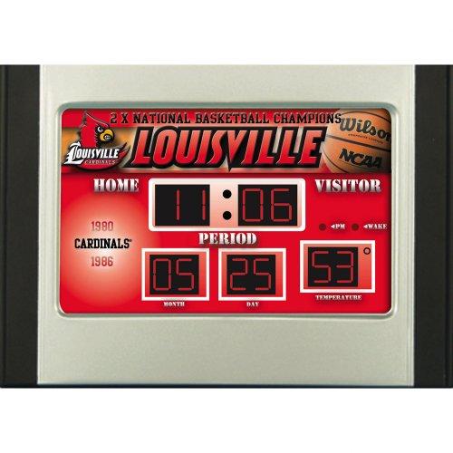 (Team Sports America Louisville Cardinals Scoreboard Desk Alarm Clock)