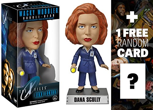 Dana Scully: X-Files x Wacky Wobblers Series + 1 FREE American TV Themed Trading Card Bundle [41137]