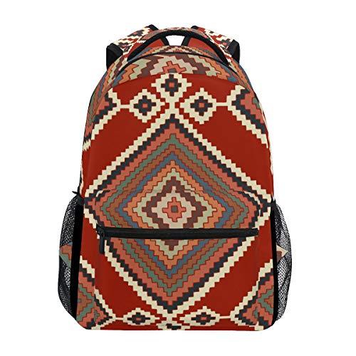 Stylish Kilim Diamond Backpack- Lightweight School College Travel Bags, ChunBB 16