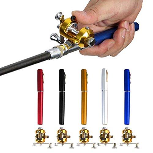 Portable Mini Telescopic Pocket Fish Pen Aluminum Alloy Mini