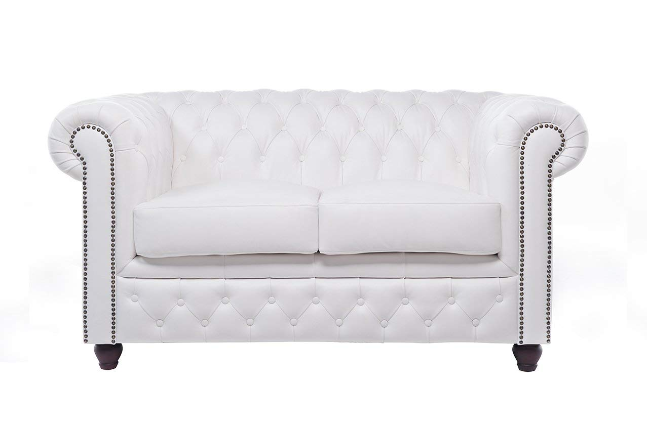 The Chesterfield Brand - Sofá Chester Brighton Blanco - 2 ...